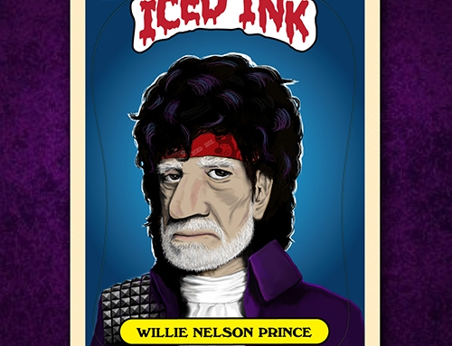 "Get the ""Willie Nelson Prince"" EP and sticker book today!"